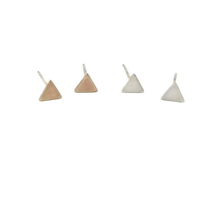Triangle Post Earrings detail