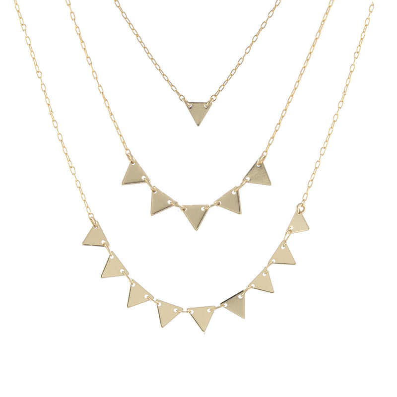 Triangles Necklace by Peggy Li Creations