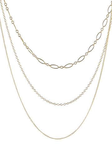 Triple Chain Necklace by Peggy Li Creations