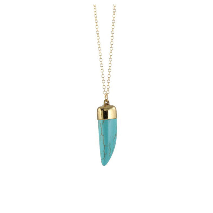 Turquoise Tusk Horn Necklace