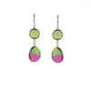 watermelon crunch earrings silver