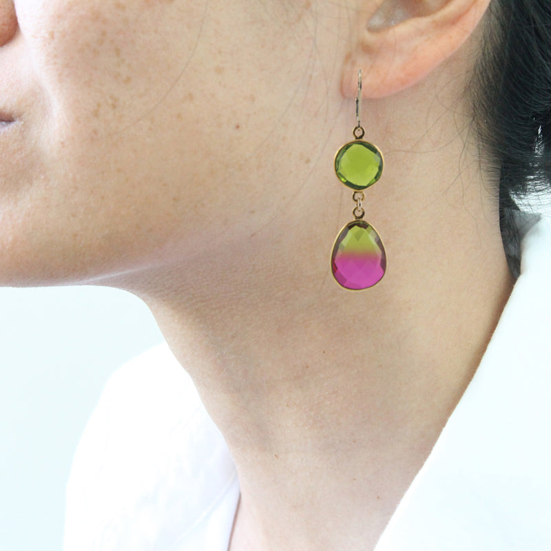 Watermelon Crunch Earrings by Peggy Li