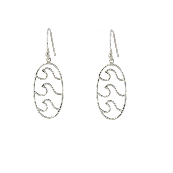 Triple Wave Earrings sterling silver