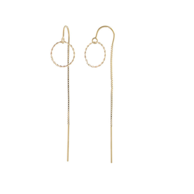 Woven Circlet Threader Earrings