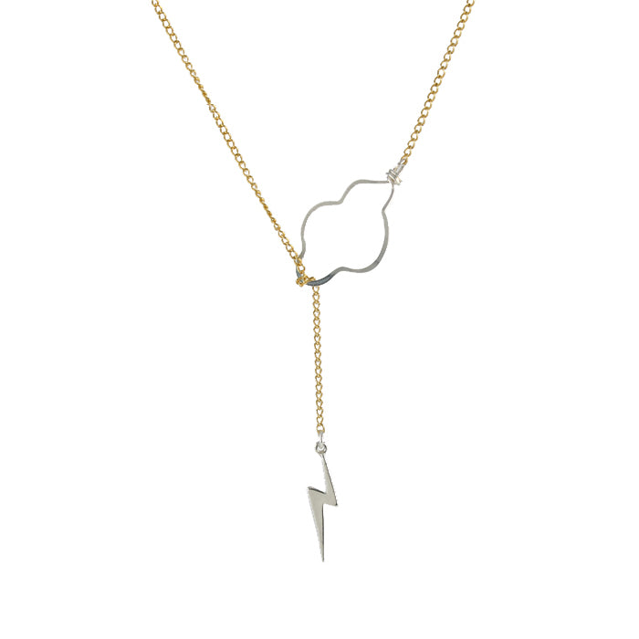 Weather the Storm Necklace - Silver Bolt