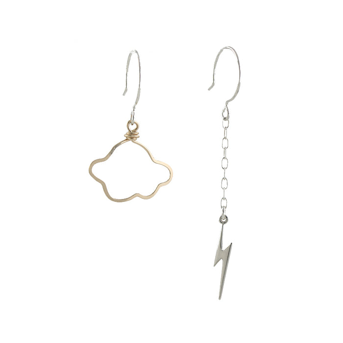 Lightning and Cloud earrings