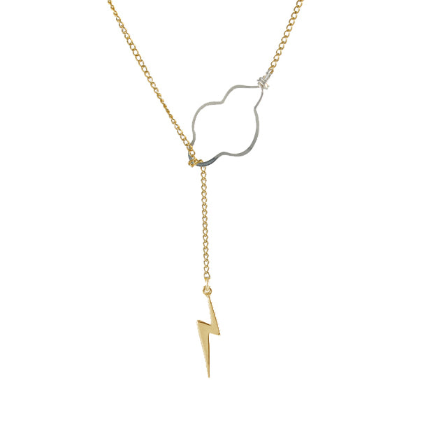 Weather the Storm Necklace - Gold Bolt