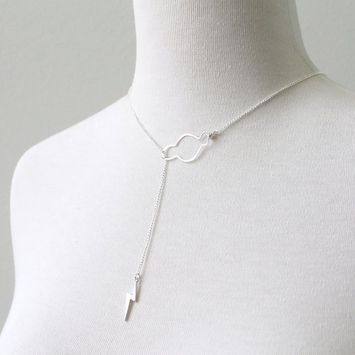 Sterling silver weather the storm necklace