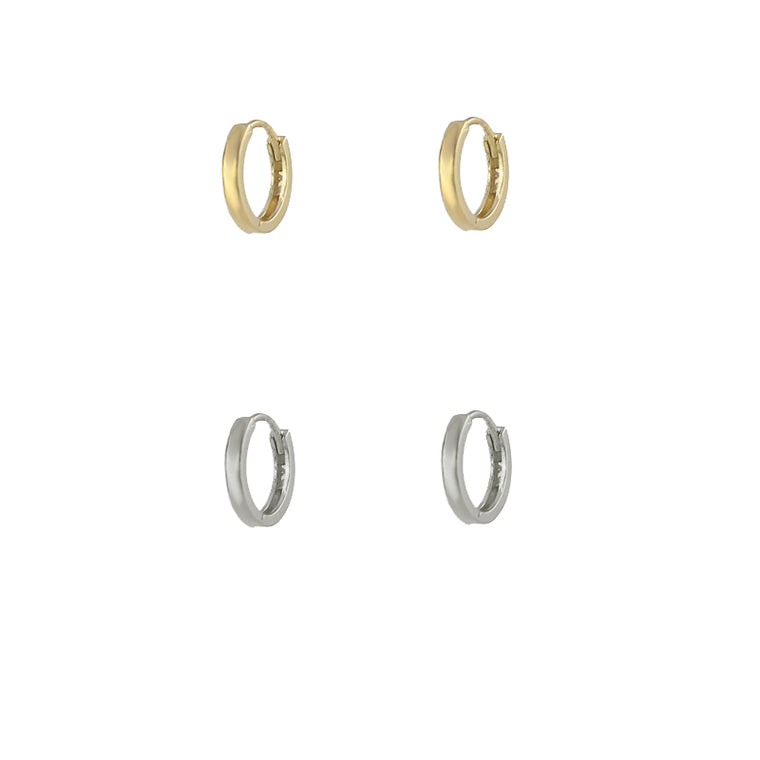 Wide Huggie Hoop Earrings