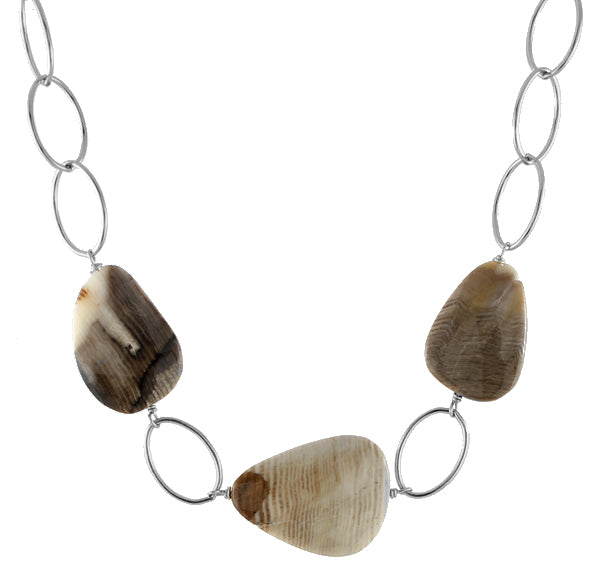 Wood Opal Necklace by Peggy Li