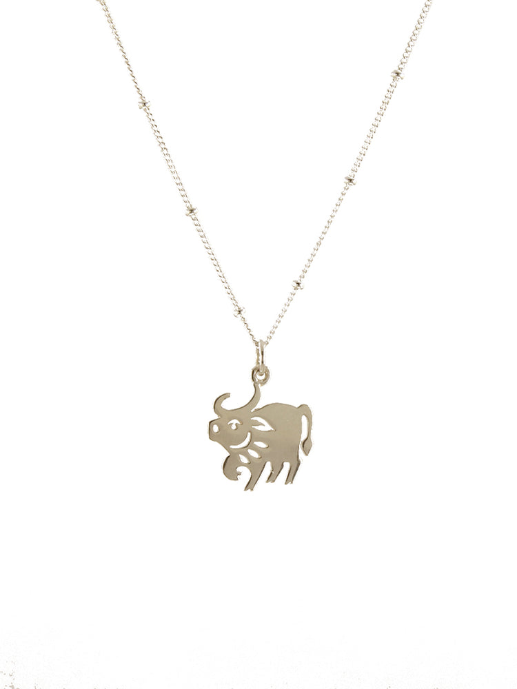 Gold year of the ox pendant
