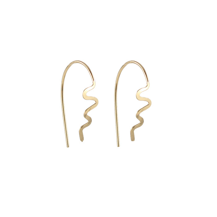 Zig zag spike earrings