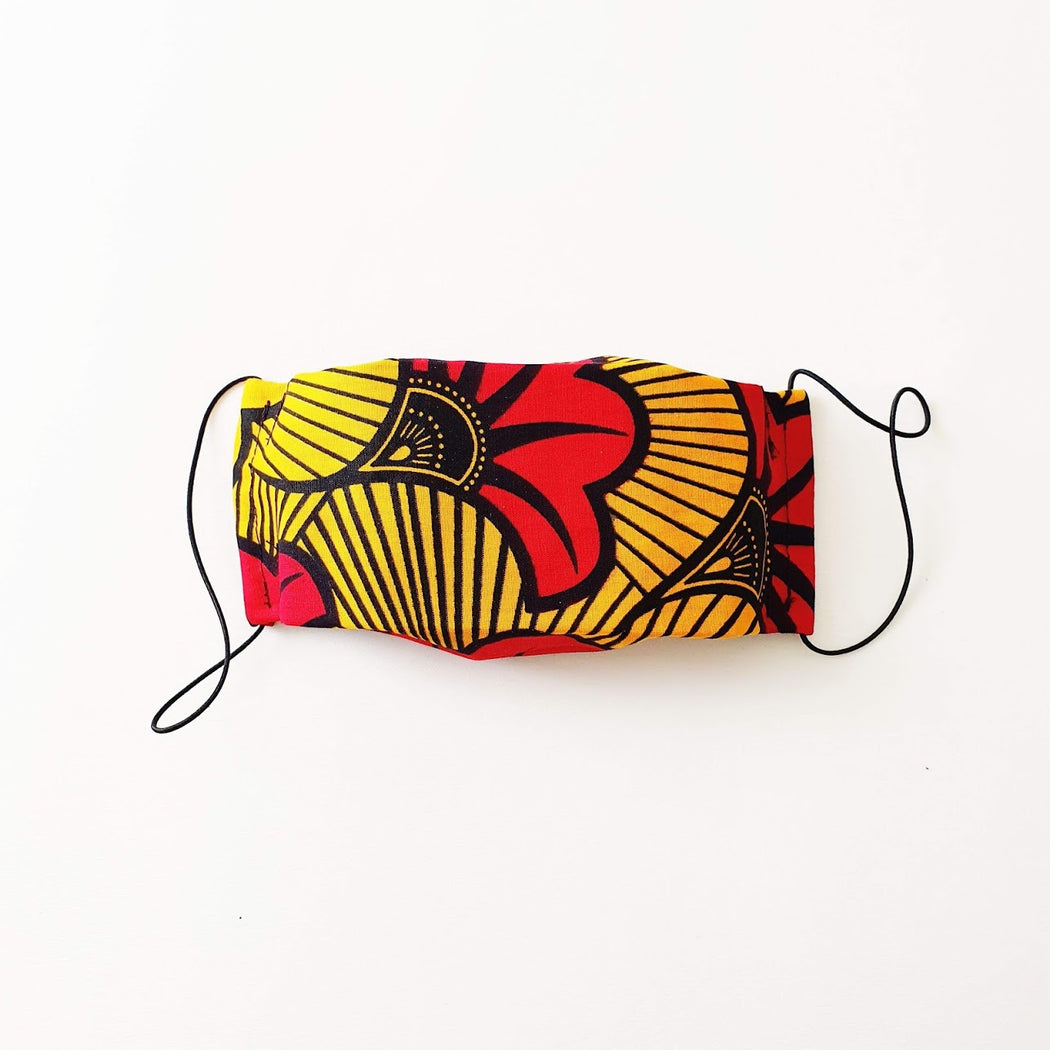 Afropuff Ltd, African print red face mask