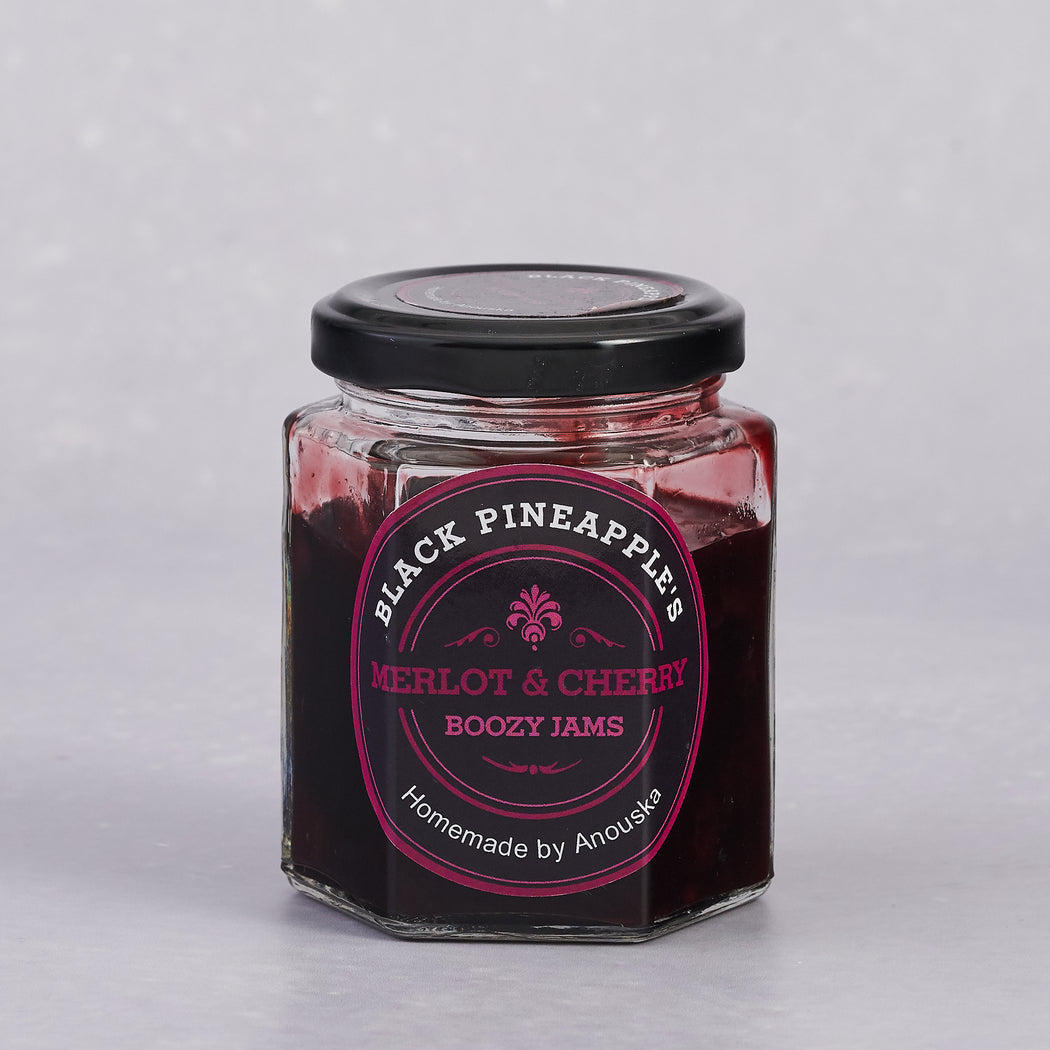 Black Pineapple, Merlot and Cherry Boozy Jam