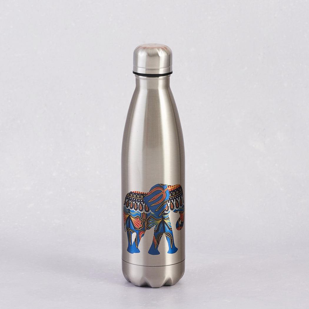 Colourshot Cards, Silver Water Bottle, Elephant Print