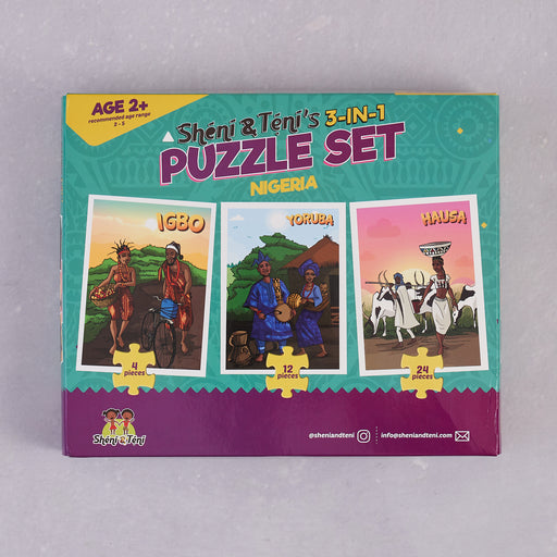 Sheni and Teni, 3-in-1 Puzzle Set (Nigeria) - Wood