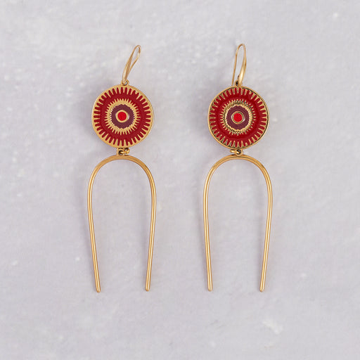 Valeri Christina, Red Deity Earrings