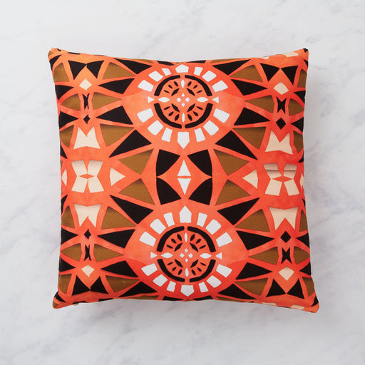 AK Wilde, Neon Orange Print Cushion