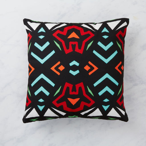AK Wilde, black, red and green cushion