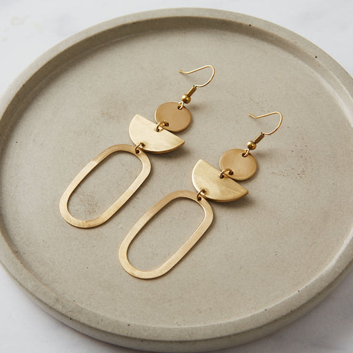 Ahima Jewellery, Oval statement earrings