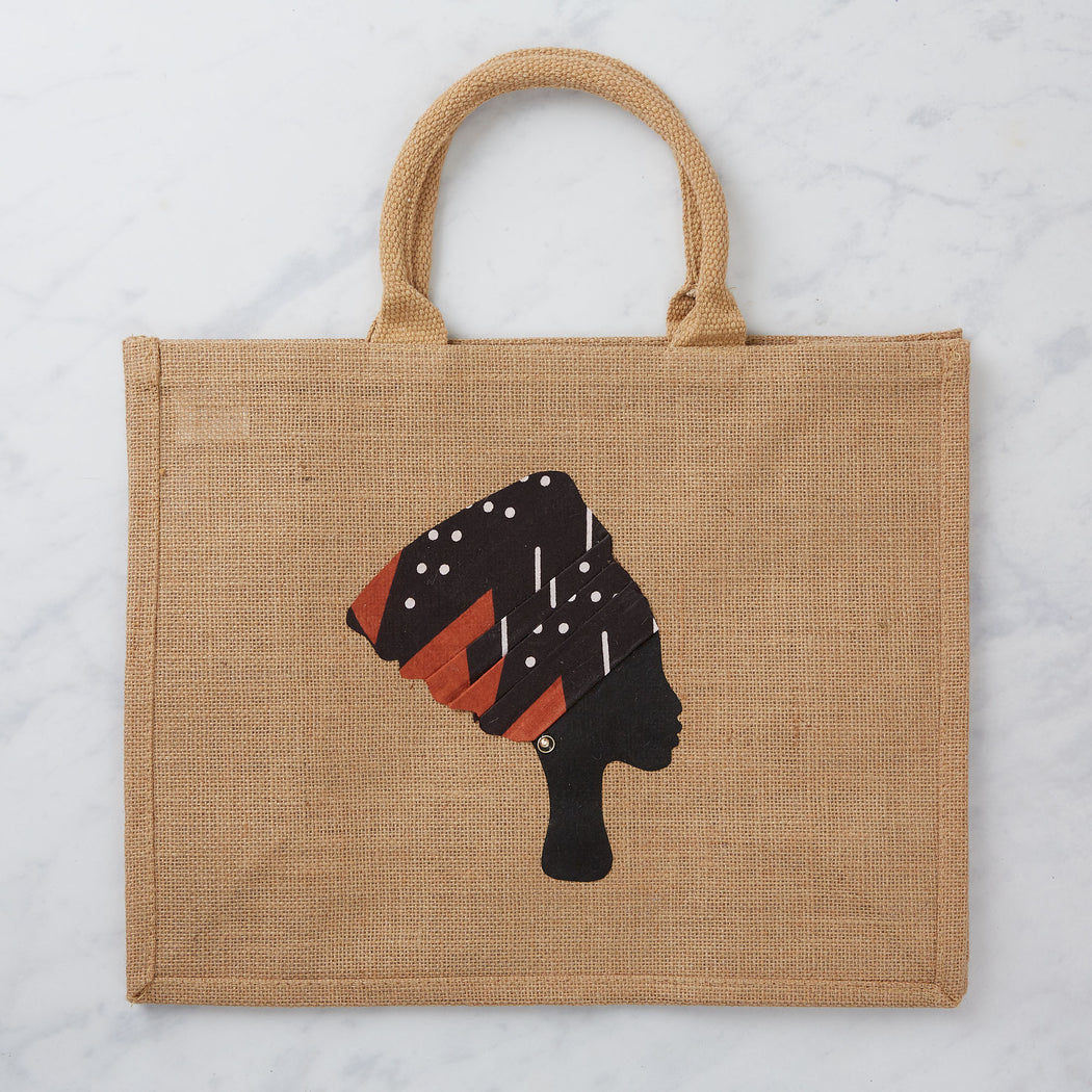 Colourshot, Headwrap Jute Shopping Bag
