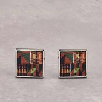 Colourshot, Orange Kente Cufflinks
