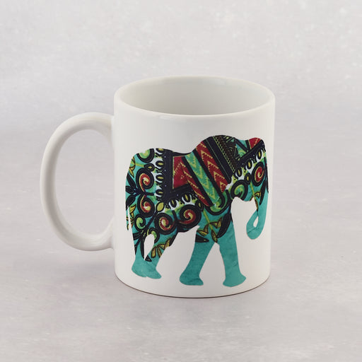 Colourshot Cards, Purple and Turquoise Elephant Mug