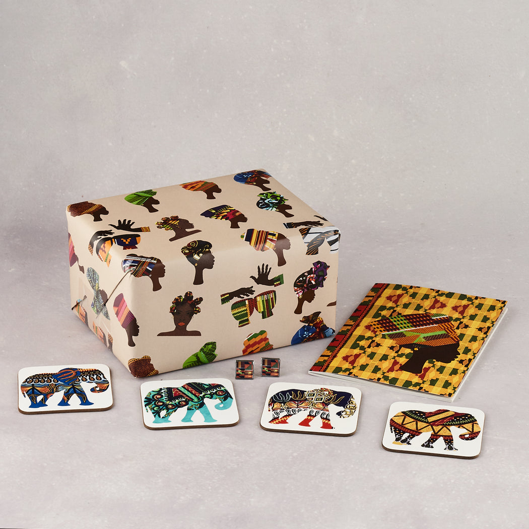 Colourshot Cards, Elephant Coasters (Pack of 4)