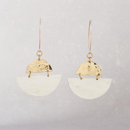 Yala Jewellery Sondu Half Moon Earrings