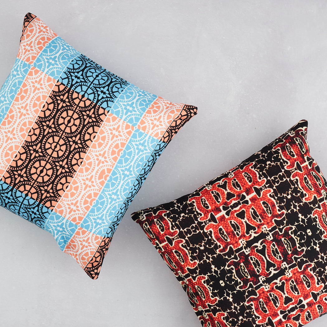 AK Wilde, Arabesque print cushion