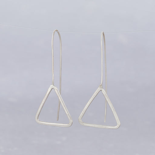 Ange B Designs, Silver Triangle Threader Earrings
