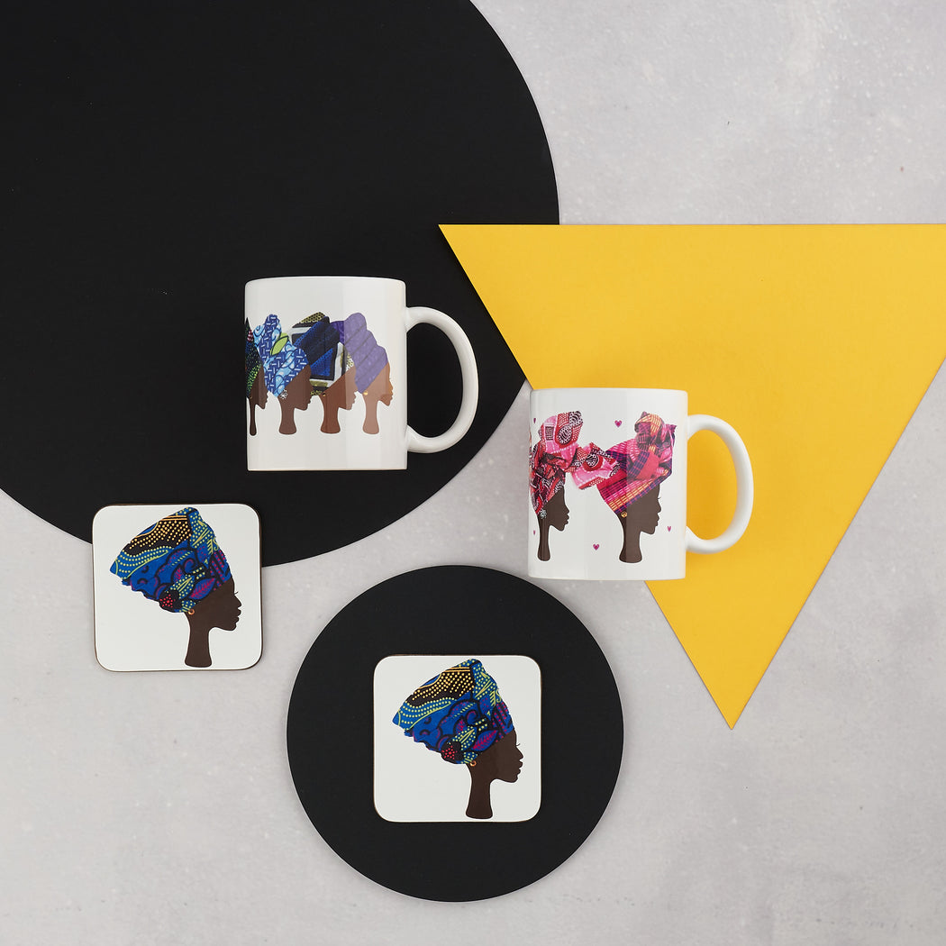 Colourshot Cards, Multicoloured Head Wrap Mug