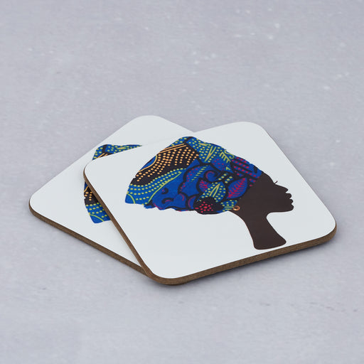 Colourshot Cards, Blue Headwrap Coasters (Pack of 4)