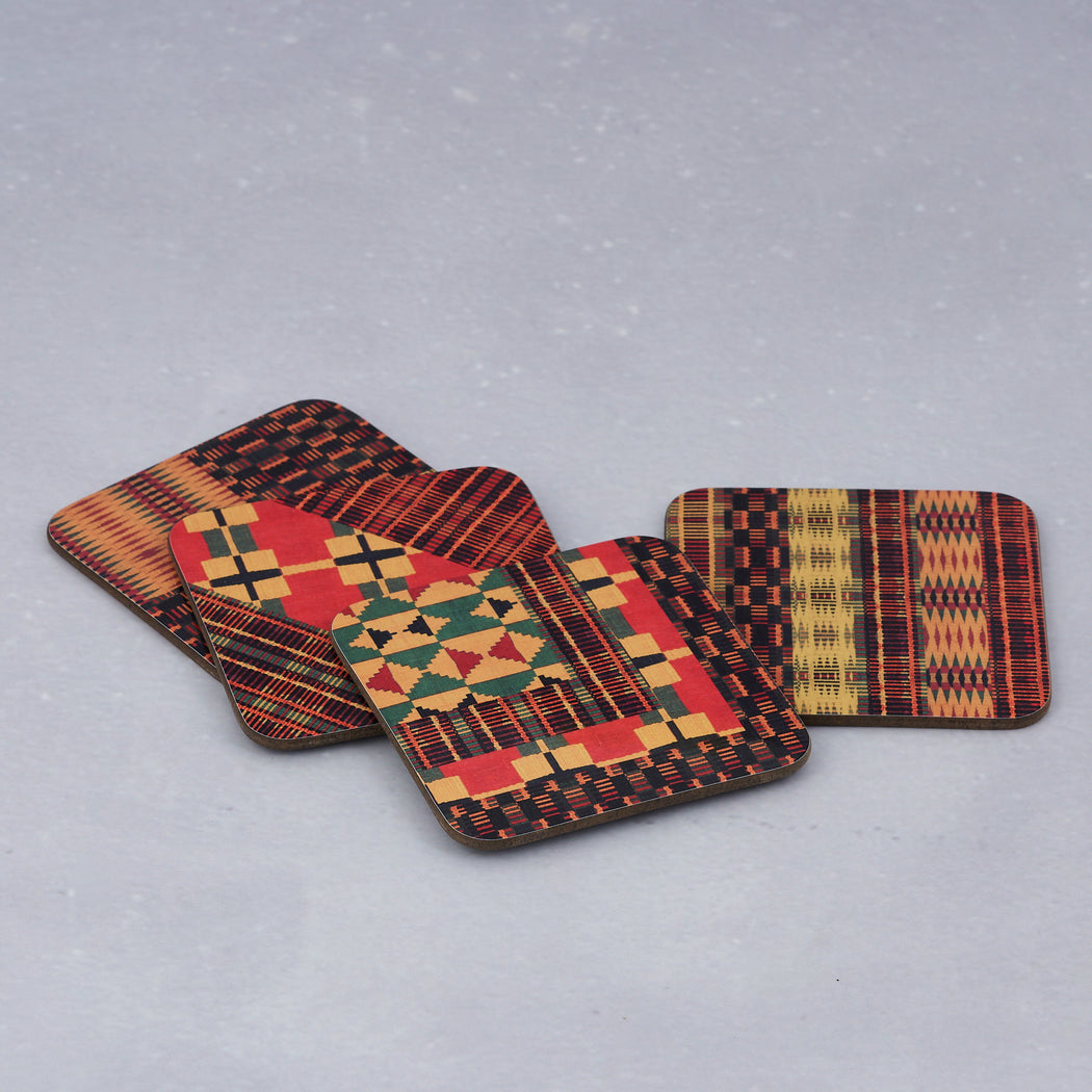 Colourshot Cards, Kente Print Coasters (Pack of 4)