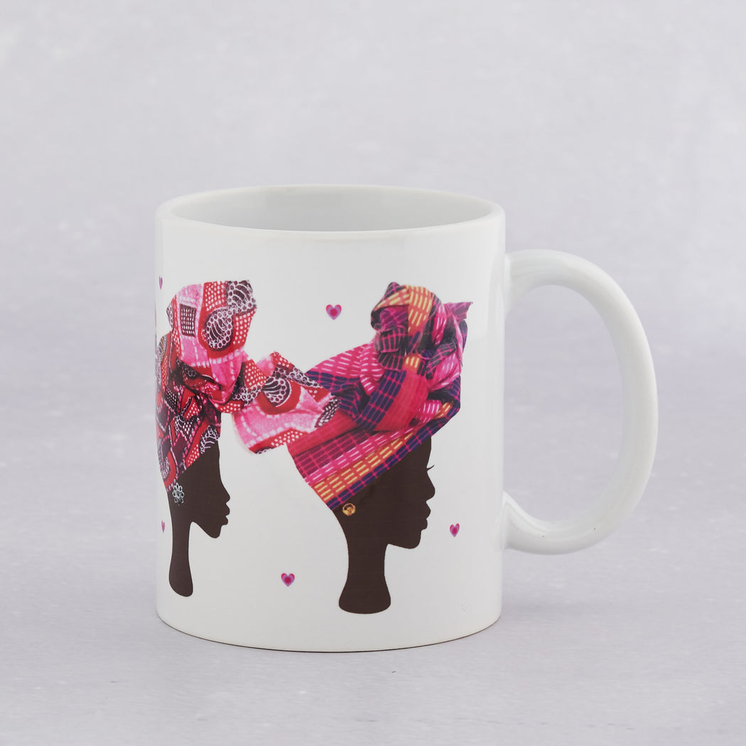 Colourshot Cards, Pink Head Wrap Mug