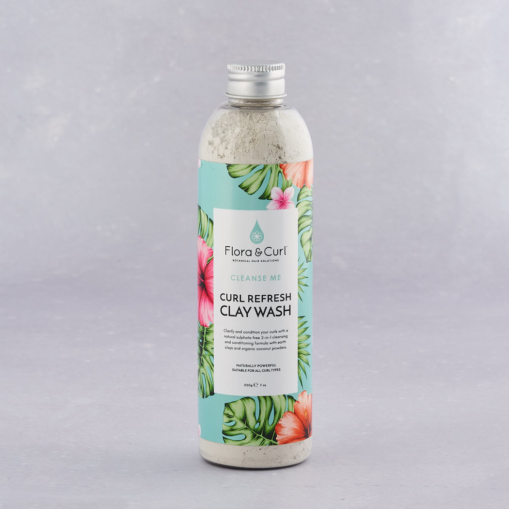 Flora & Curl, Moroccan Lava Curl Refresh Clay Wash