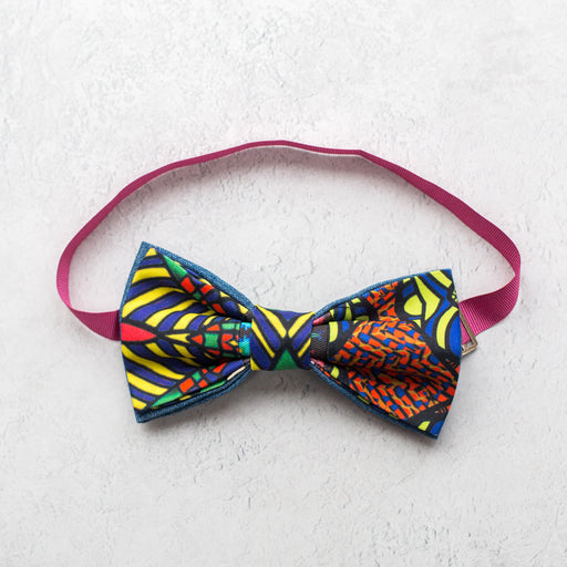 AK Wilde, Abstract Patchwork Bow Tie