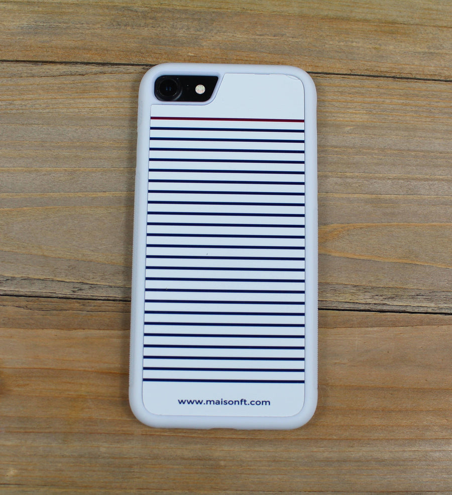Coque Iphone Marinière Blanche Coque d'Iphone - Maison FT