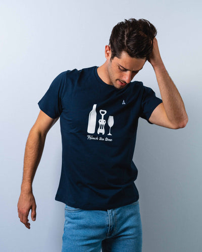 T-SHIRT HOMME Apéro - Coton Bio T-shirt bio - Maison FT made in France ou Bio
