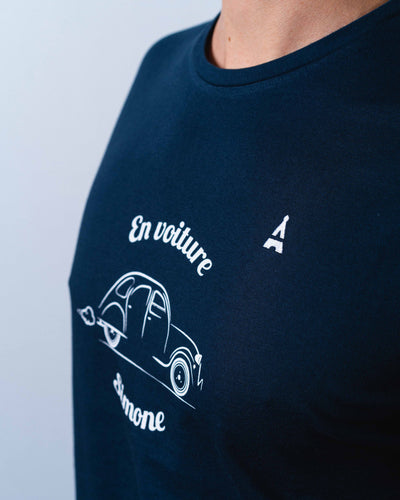 T-SHIRT homme En Voiture Simone - Coton Bio T-shirt bio - Maison FT made in France ou Bio