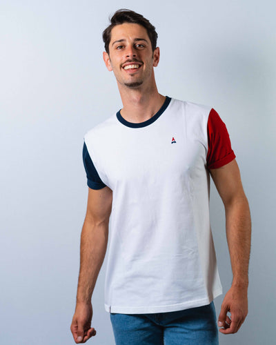 T-SHIRT homme Tricolore - Made in France T-shirt MIF - Maison FT made in France ou Bio