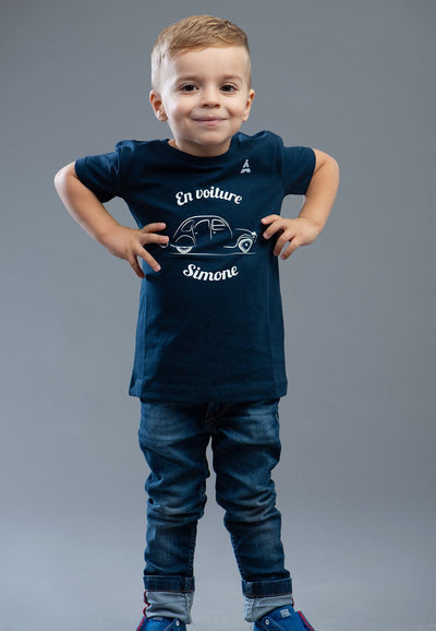 T-SHIRT Enfant En voiture Simone - Coton Bio T-shirt BIO enfant - Maison FT made in France ou Bio
