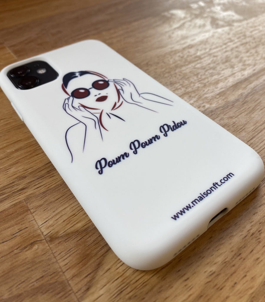Coque iPhone Marilyn Silicone Recyclé - Made in France