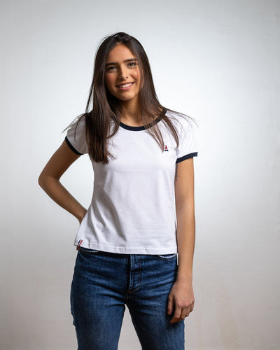 T-SHIRT FEMME Blanc - COTON BIO T-shirt femme bio - Maison FT made in France ou Bio