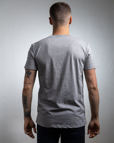 T-shirt HOMME simple gris - COTON BIO T-shirt bio - Maison FT made in France ou Bio