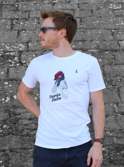 T-SHIRT MIXTE Cocorico Electro - Made in France T-shirt MIF - Maison FT made in France ou Bio