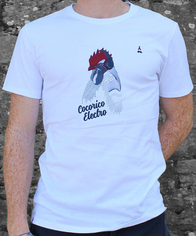 T-SHIRT Homme Cocorico Electro - Made in France T-shirt MIF - Maison FT made in France ou Bio