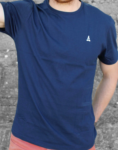 T-SHIRT MIXTE Bleu Marine - Made in France T-shirt MIF - Maison FT made in France ou Bio