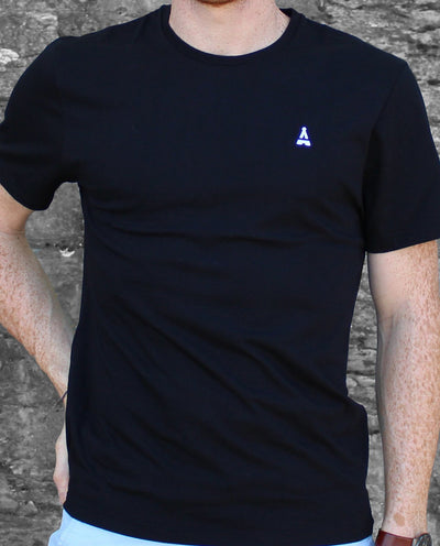 T-SHIRT MIXTE Noir - Made in France T-shirt MIF - Maison FT made in France ou Bio