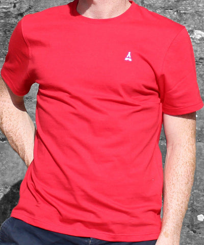 T-SHIRT MIXTE Rouge - Made in France T-shirt MIF - Maison FT made in France ou Bio